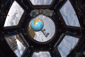 360 degree observation bay window in the International Space Station. Source: NASA