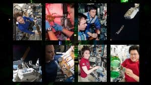 Astronauts Conducting Experiments aboard the International Space Station