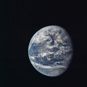 Earth from Apollo 11, 1969. NASA