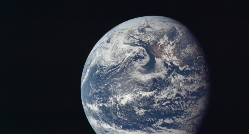 Earth from Apollo 11, 1969. NASA