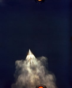 Apollo 11 launched by Saturn V rocket July 16, 1969. NASA