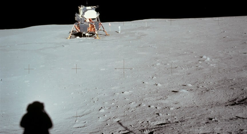Apollo 11 taken on the moon by Neil Armstrong