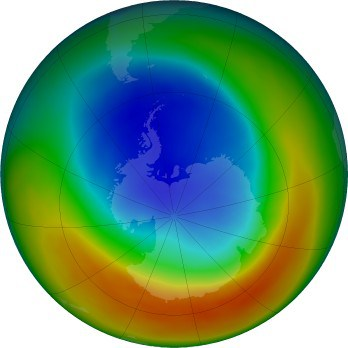 Ozone Hole Over Antartica Sept 2019