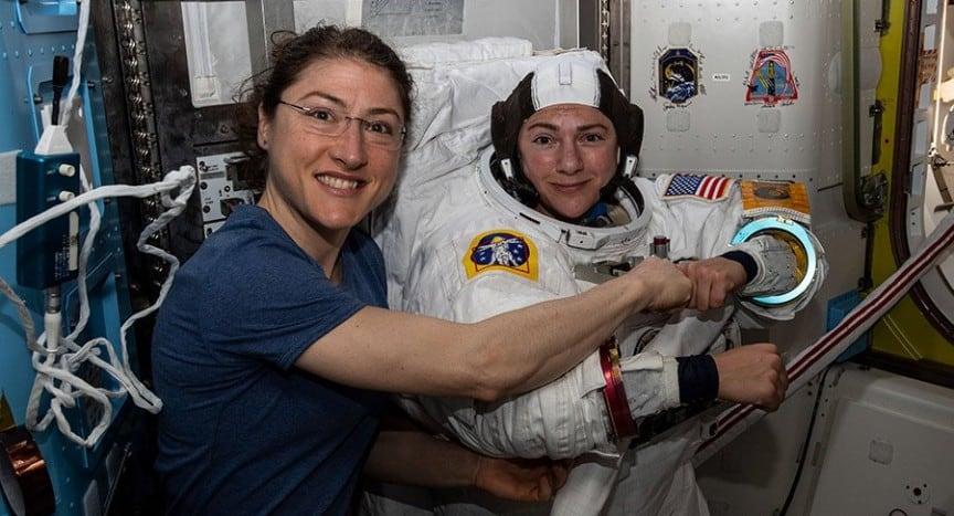 all women spacewalk