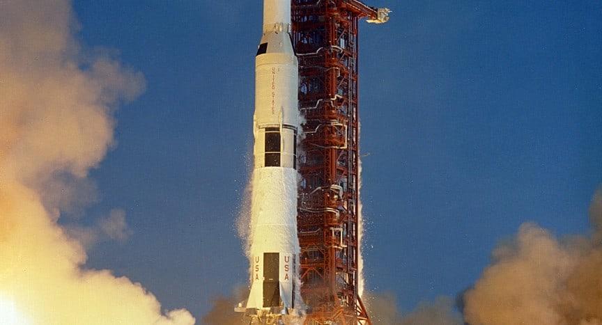 Apollo 11 Launch Aboard the Saturn V Rocket / NASA