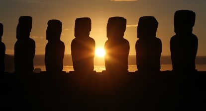 Picture of moai
