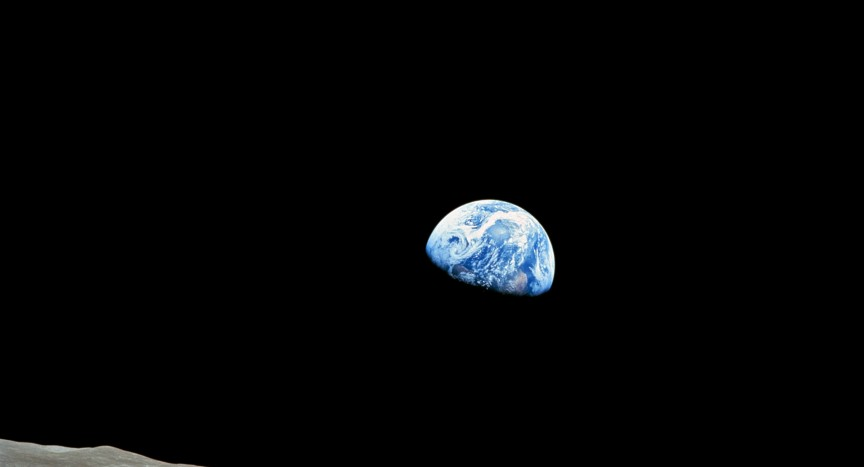 Earthrise taken on December 24 1968 by Apollo 8 astronaut William Anders NASA