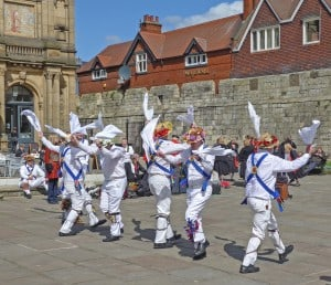 Morris dancers in the UK