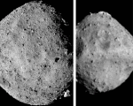Composite image of asteroids Bennu and Ryugu