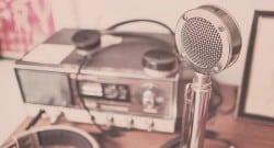 radio, speaker, microphone