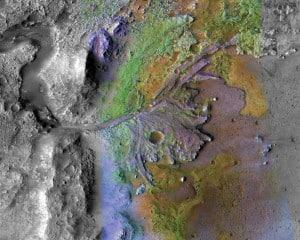 Jezero Crater on Mars. Image: NASA