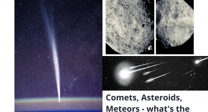 Comets, asteroids and meteors. What's the difference?