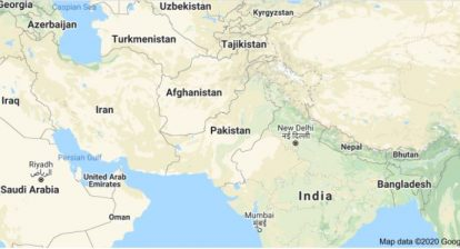 Map of Pakistan in Asia