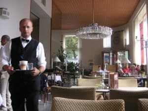 Cafe Pruckel with its 1950s interior