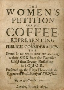 Women's Petition against coffee 1674