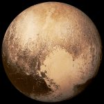 Dwarf Planet Pluto in natural colour by New Horizons