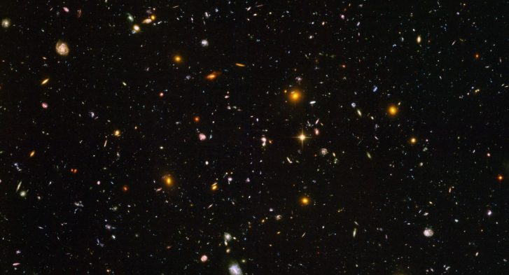 Hubble Deep Field Image of 10,000 galaxies taken in 2003. Posted by 360onhistory.com