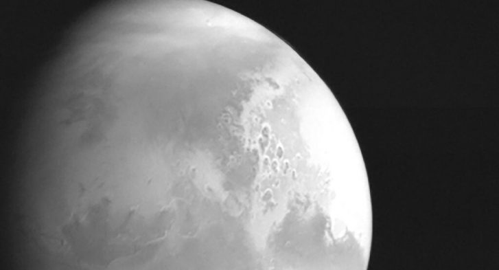 Image of Mars by Tianwen 1, a spaceprobe of Chinese National Space Administration. Posted by 360onhistory.com